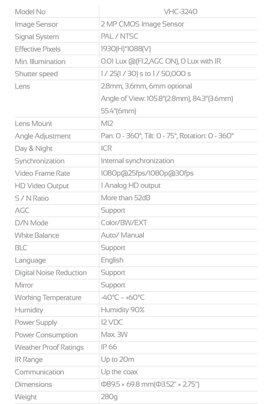 VERTINA-VHC-3240-data VHC-3240